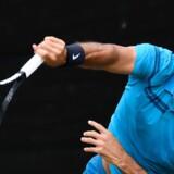 Tennisstjernen Roger Federer vandt med 6-4, 7-6 over Milos Raonic fra Canada. Thomas Kienzle/Ritzau Scanpix