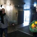Jesper Stein var en overvældet modtager af De Gyldne Laurbær tirsdag i Den Sorte Diamant.