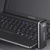 Godt nok er mobilnettene nu ved at være på plads, men det er yderst sparsomt med udstyret til fremtidens mobilnet. Kun Samsung har endnu et 4G-/LTE-modem på hylden, og der findes endnu slet ingen mobiltelefoner til den nye teknologi. Foto: Samsung