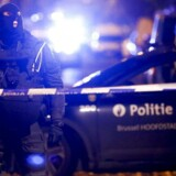 Belgiske sikkerhedsstyrker under en anti-terror-operation i Molenbeek.