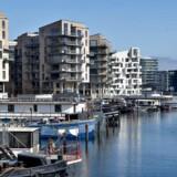 Nybyggerier i København. Her er det lejligheder i Sydhavnen. Havneholmen.