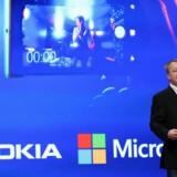 Fredag kan tidligere topchef for Nokias mobilproduktion Stephen Elop, som i efteråret 2010 blev hentet fra netop Microsoft, igen overtage roret for al Microsofts mobiludstyr. Foto: Justin Sullivan/Scanpix