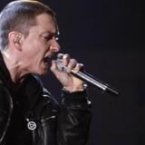 Eminem performs »I Need A Doctor« at the 53rd annual Grammy Awards in Los Angeles, California February 13, 2011. Verdensstjernen Eminem har aldrig før givet koncert i Danmark, men til sommer indtager han Roskilde Festival. (Foto: LUCY NICHOLSON/Scanpix 2018)