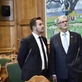 Arkvifoto: Simon Kollerup og Mogens Lykketoft i folketingssalen ved Folketingets åbning 4. oktober 2016.