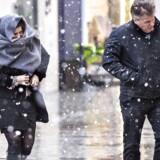 Tirsdag og onsdag bliver dage med byger og slud og regn. Det bliver også relativt køligt med dagtemperaturer på omkring tre-fire graders varme, lyder det fra DMI. - Foto: Scanpix/Bax Lindhardt