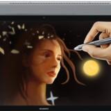 Huawei håber at kunne forny tabletgenren og dermed få vendt det nedadgående salg af denne type af skærme. Nu kommer der både 2,5D-skærm og en digital tegne- og skrivepen til MediaPad M5. Foto: Huawei