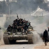Arkivfoto: Angrebet skulle være udført nær en militærbase i Al-Mastumah i det borgerkrigsramte lands Idlibprovins.