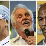 Hulk Hogan, Kenny Rogers og Mike Tyson.