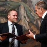 Udenrigsminister Anders Samuelsen (LA) mødtes tirsdag med sin russiske kollega Sergej Lavrov i Moskva.