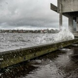 Stormen Ingolf er på vej mod Danmark og vandet truer Roskilde Havn og Vikingeskibsmuseet i Roskilde lørdag den 28. oktober 2017. Det forventes, at stormen Ingolf vil give stormflod og det betyder, at Roskilde Havn og Vikingeskibsmuseet er begyndt at sætte stormflodssikringer op.