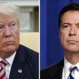 USA's præsident, Donald Trump, reagerer på Twitter skarpt på, at den tidligere FBI-chef James Comey sammenligner ham med en mafiaboss i sin selvbiografi, der udkommer om få dage. (Foto: /Ritzau Scanpix)