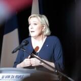 Arkivfoto af Marine Le Pen til et andet vælgermøde på Korsika.