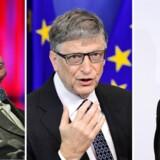 Sværvægtere som Bill Gates, Stephen Hawking (tv) og Elon Musk (th) advarer, mens økonomer tegner billeder af en gylden fremtid.