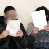 Billedet viser de to anholdte, der mistænkes for at have planlagt et terrorangreb mod Europa.