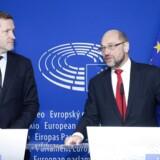 Europaparlamentets formand Martin Schulz møder Valloniens ministerpræsident Paul Magnette i et forsøg på at nå frem til et kompromis om EU's handelsaftale med Canada