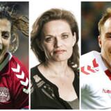 Nadia Nadim, Sørine Gotfredsen og Christian Eriksen