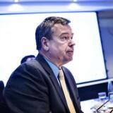 Peder Holk Nielsen, der er administrerende direktør i Novozymes, ser ikke fredagens nedjustering i selskabets salgsvækst i kroner som en rigtig nedjustering. (Foto: Mathias Løvgreen Bojesen/Scanpix 2017)
