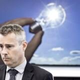 Arkivfoto: Henrik Sass Larsen under pressemøde.
