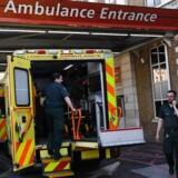 Et omfattende hacker-angreb har ramt en række organisationer i 74 lande, skriver BBC. Det britiske sundhedsvæsen er hårdt ramt. EPA/ANDY RAIN