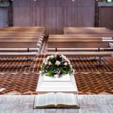 Begravelse i Nørre Uttrup Kirke i Nørresundby.