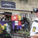 Arkivfoto: Christianitterne og politiet på vandring rundt på fristaden.