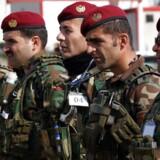 Russiske kilder tæt på Kreml: USA forsyner kurdiske styrker med »avancerede våben«. Her ses kurdiske peshmerga-soldater i Irak.