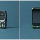 Husker du dem? Nokias berømte 3310 (til venstre) er verdens bedst sælgende mobiltelefon. Til højre en af taiwanske HTCs tidligere modeller. Foto: Danmarks Tekniske Museum