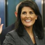 USAs FN-ambassadør Nikki Haley.