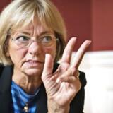 »Det er mig, der er formand i det her hus,« lyder det fra Folketingets Formand, Pia Kjærsgaard, efter at Irans ambassadør har afvist at ville give hende hånden til en reception på Christiansborg. Arkivfoto.