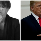 »Vi er nemlig ikke ligeglade med, at Trump udbreder evangeliet om et godt liv uden tiltalekomma til sine 49 mio. følgere – 10 mio. mindre end Kim Kardashian, men alligevel,« skriver Susanne Staun.Foto: Ida Marie Odgaard og Saul Loeb.