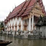 Provinsen Nakhon Si Thammarat er hårdt ramt af oversvømmelser.