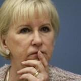 Arkivfoto. Den svenske udenrigsminister, Margot Wallström, vil ifølge ministeriet kræve dommen ændret.
