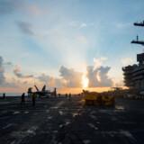 Hangarskibet USS Carl Vinson blev tidligere på ugen omdirigeret til området ud for den koreanske halvø. Reuters/Handout