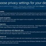 Sådan kommer det nye panel i Windows 10 til at se ud, når Microsoft senere i år sender en opdatering ud til alle, så man selv kan bestemme, hvilke oplysninger man har lyst til at dele med softwaregiganten. Foto: Microsoft