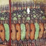 Det vi i dag betegner som Danmark var engang hjemsted for danerne, som er blevet beskrevet i et gammelt skrift, som er fundet i Italien. Her ses en illustration af de »hurtige« men ikke nødvendigvis »kloge« danere - i dette tilfælde fra et klostret i Angers i Frankrig som blev angrebet af vikinger i 800-tallet. Tegningen er fra 1100-tallet.
