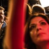 Socialdemokratiet i København holder valgfest i Amager Bio. Københavns overborgmester Frank Jensen annoncerede fra scenen, at tre andre partier ville pege på ham som overborgmester.