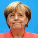 Det var en væsentlig mere selvkritisk Angela Merkel, der mandag eftermiddag trådte frem i Konrad-Adenauer-Haus i Berlin for at forklare endnu et bittert nederlag til CDU ved et tysk delstatsvalg i det indeværende år. REUTERS/Fabrizio Bensch