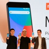 Den kinesiske mobilgigant Xiaomi præsenterede i september sin nye toptelefon, Mi A1, som nu også lanceres i Spanien som første vesteuropæiske land. Arkivfoto: Sajjad Hussain, AFP/Scanpix