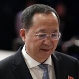 Nordkoreas udenrigsminister Ri Yong-ho ved ASEAN-møderne i august. EPA/FRANCIS R. MALASIG