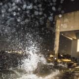 Den forhøjede vandstand efter stormen Ingolf har blandt andet ramt Vikingemuseet i Roskilde.