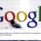 Lige nu fjerner Google søgeresultater i Europa, men de skal også væk i resten af verden, mener det franske datatilsyn. Arkivfoto: Boris Roessler, EPA/Scanpix