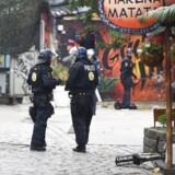 De sidste tre dage har Københavns Politi holdt ekstra øje med Pusher Street og området omkring Christiania. (Foto: Liselotte Sabroe/Scanpix 2016)