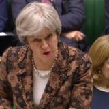 Den britiske premierminister, Theresa May, ventes onsdag at offentliggøre mulige tiltag over for Rusland, som følge af landets påståede rolle i sag om forgiftet eksspion. Scanpix/Ho/arkiv