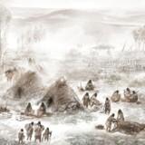Sådan forestiller man sig, at der så ud for ca. 11.500 år siden på den lille indianerboplads ved Sun River i Alaska, hvor en lille ur-indianerpige døde bare få uger gammel.