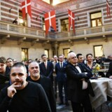 Den nordiske Michelin Guide, Michelin Guide Nordic Countries 2018, præsenteres på et pressemøde på Københavns Rådhus, mandag den 19. februar. Foto: Ritzau Scanpix/Philip Davali