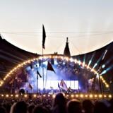 Roskilde Festival 2017 Den Canadiske gruppe Arcade Fire spiller på Orange Scene lørdag 1. juli 2017. (Foto: Torben Christensen/Scanpix 2017)