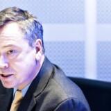 Topchef Peder Holk Nielsen er under pres fra aktiespekulanter. Her ses han i forbindelse med fremlæggelsen af Novozymes' årsregnskab 18. januar 2017.