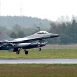 Danske kampfly deltog i fejlangreb i Syrien. (Foto: Claus Fisker/Scanpix 2016)