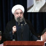 Demonstranterne retter deres vrede mod præsident Hassan Rouhani og hans regering.