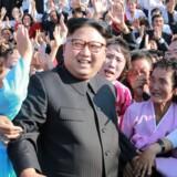 Nordkoreas leder, Kim Jong-un, har intensiveret landets missiltest og sat skub i dets atomprogram. Scanpix/Str/arkiv